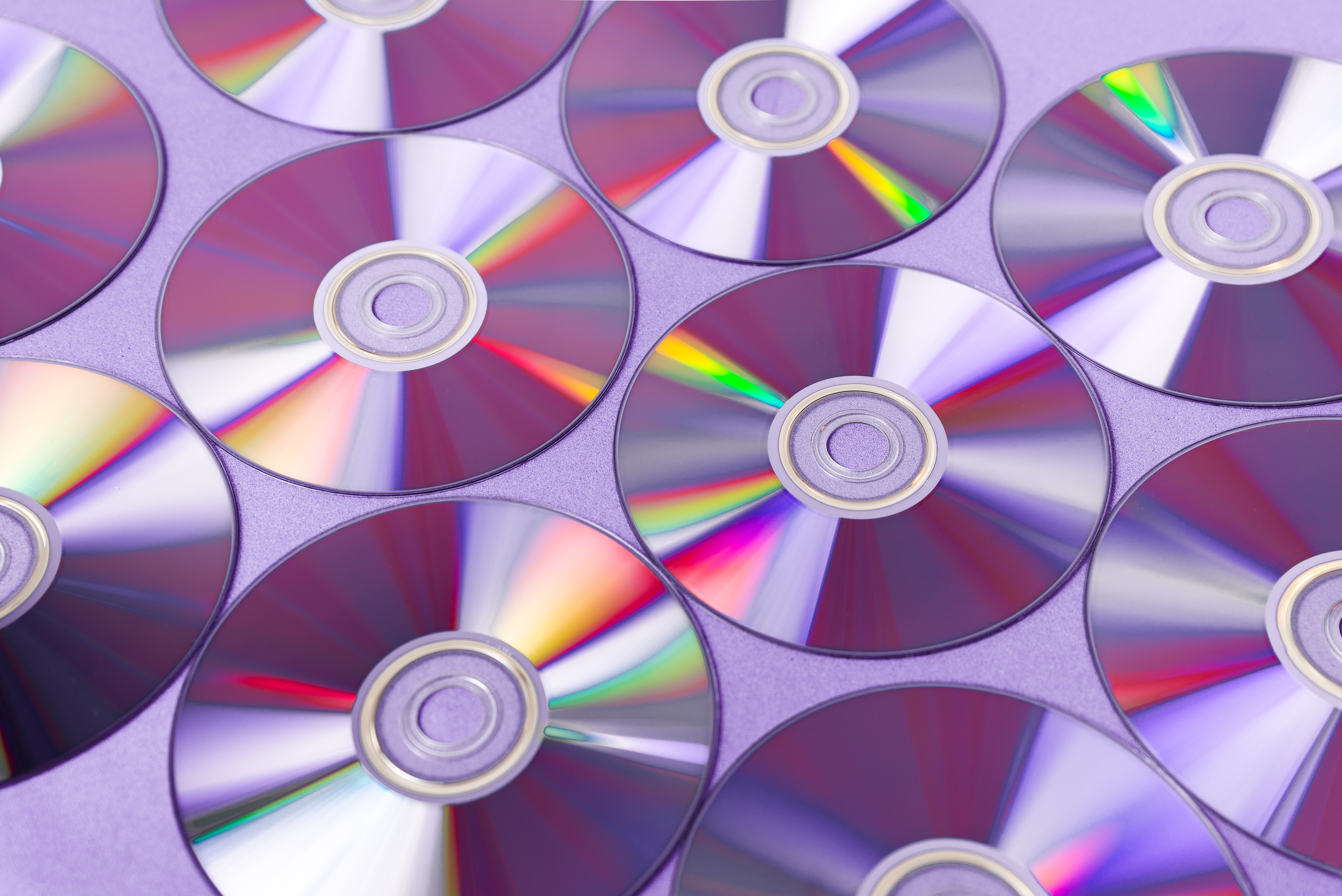DVDs on a surface