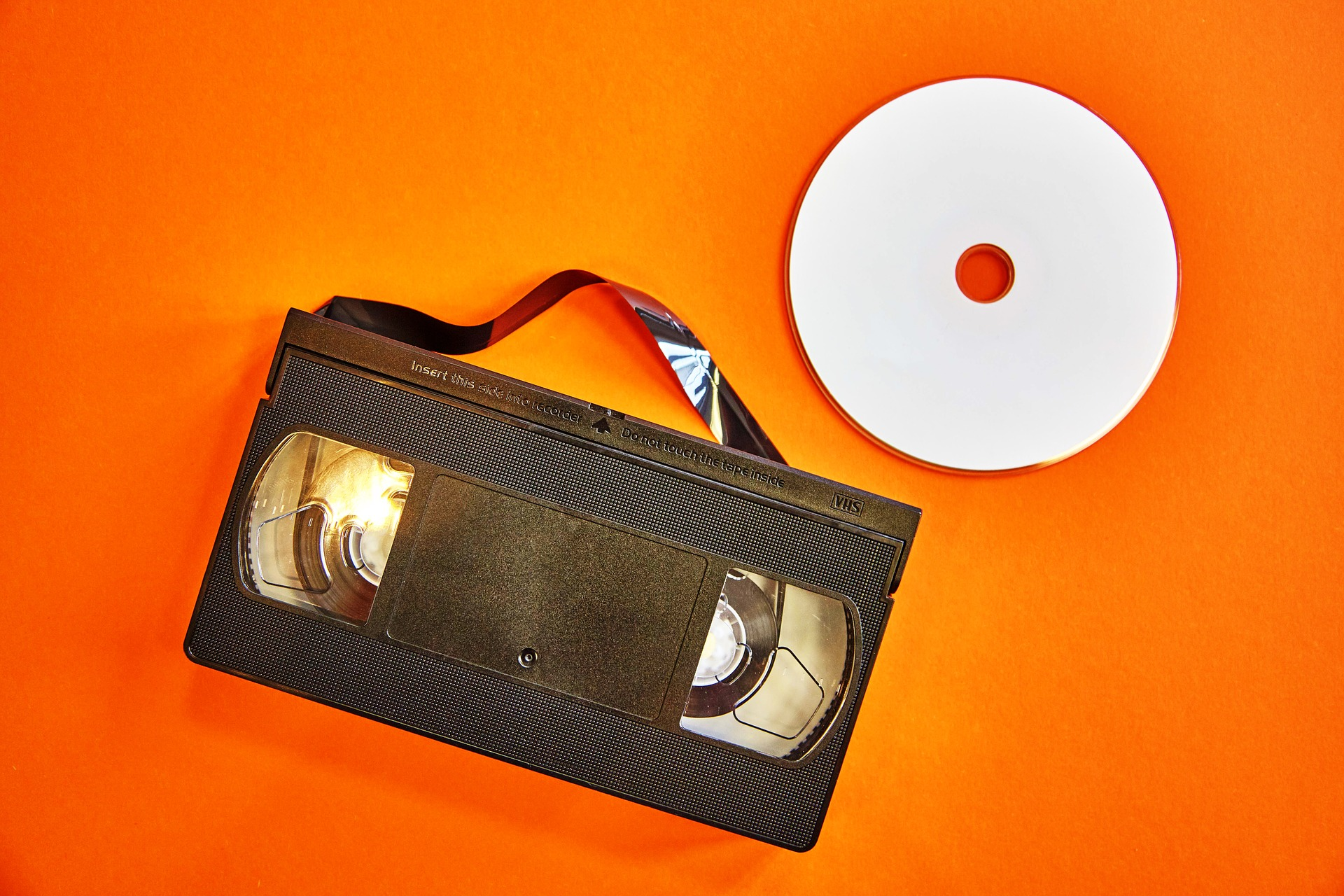 vhs video and a dvd